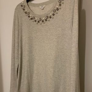 Crown and Ivy Jeweled Sweater
